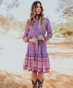 Lila Hippie Kleid