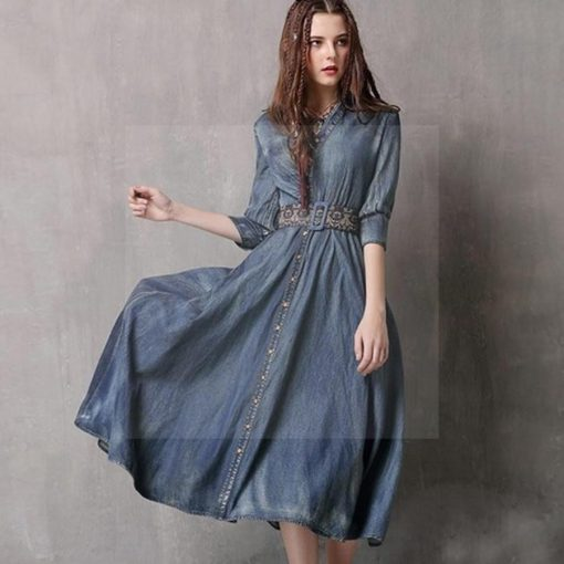 Boho Herbst Kleid