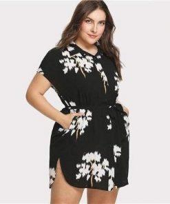 Hippie Stil Kleid große Größe floral